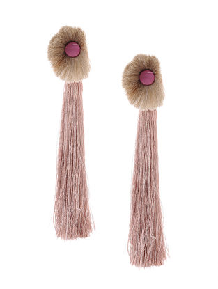 Beige Earrings with Tassels
