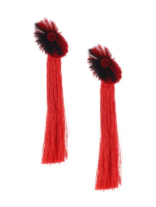 Red Earrings with Tassels