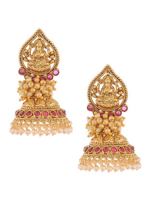 Classic Jhumkis with Deity Design