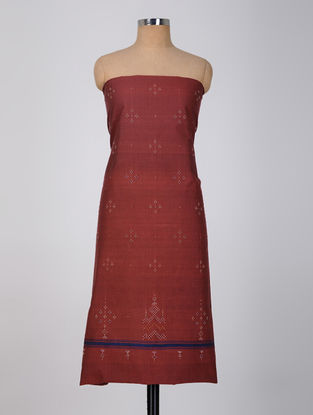 Red-Blue Tangaliya Cotton Kurta Fabric