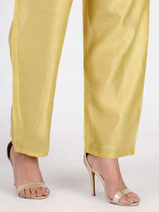 Yellow Chanderi Pants