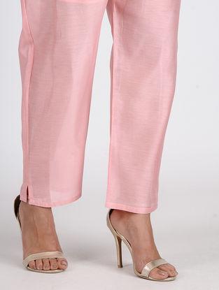 Pink Chanderi Pants