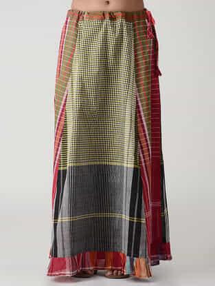 Multicolored Cotton Gamcha Petticoat Skirt