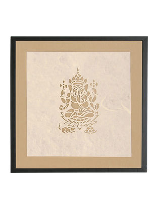 Ganesha Sanjhi Wall Art 9.8in x 9.8in