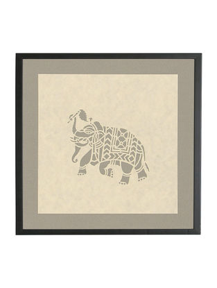 Elephant Sanjhi Wall Art 9.8in x 9.8in