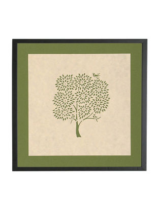 Kadam Tree Sanjhi Wall Art 9.8in x 9.8in