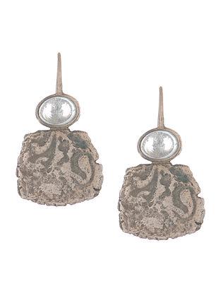 Aquamarine Coin Silver Earring