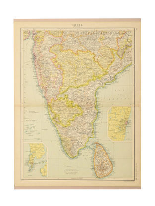 Buy mapping india vintage maps of british provinces and presidencies map of india 1912 section 3 gumiabroncs Images