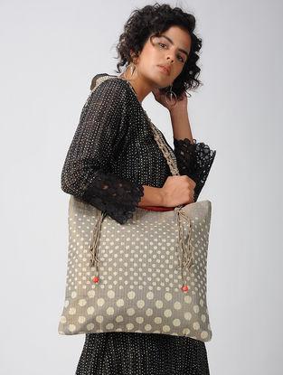 Grey Tissue- Mashru Tote Bag