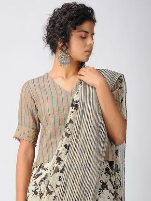 Brown Cotton Silk Blouse