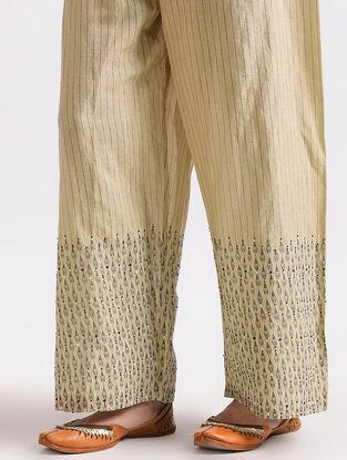 Ivory Tissue Pants with Zari Work