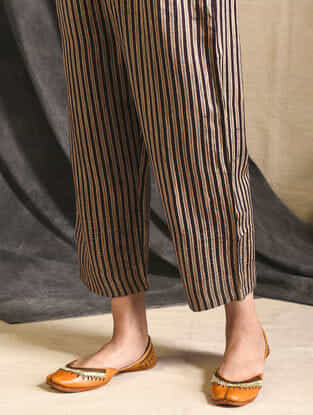 Brown Silk-Cotton Trousers