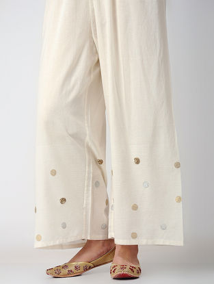 Ivory Voile Pants