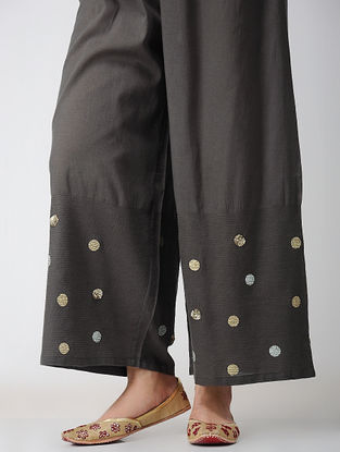 Charcoal Voile Pants
