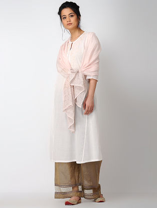 Pink Voile Kurta with Embroidery