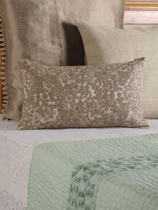 Thread Work Lurex Stone Cushion Cover 19.5in X 12in