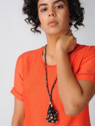 Black Cotton Silk Necklace
