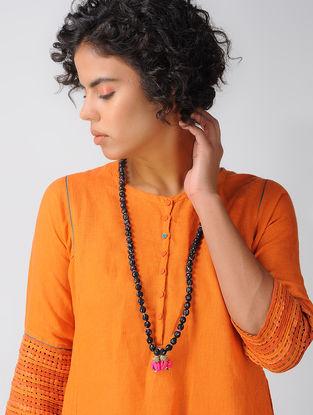 Black Chanderi Necklace with Tassels