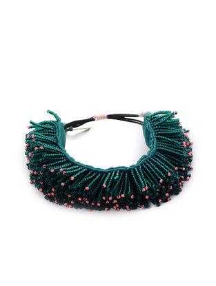 Green Mashru Bracelet with Tassels