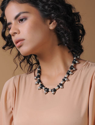 Black Handcrafted Thread Necklace