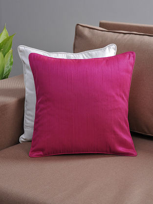 Pink Cushion Cover with Cotton Lining