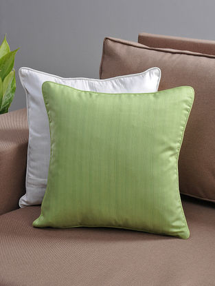 Green Cushion Cover with Cotton Lining