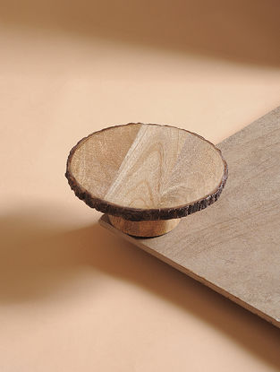 Natural Mango Wood Cake Pedestal