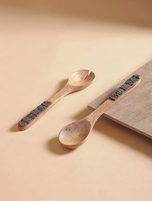 Natural Mango Wood Salad Server (Set of 2) (13in x 2.7in)
