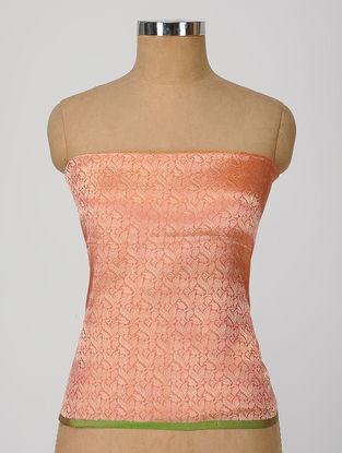 Peach Benarasi Silk Blouse Fabric
