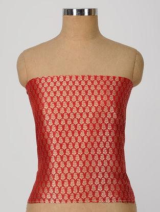 Red Benarasi Silk Blouse Fabric