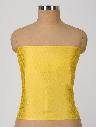 Yellow Benarasi Silk Blouse Fabric