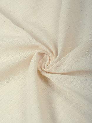 Ivory Handloom Cotton Fabric