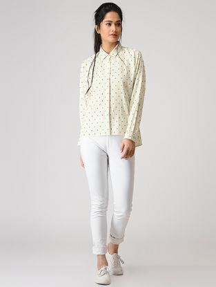 Ivory Button-up Cotton Shirt
