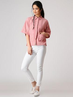 Pink Button-up Linen Shirt