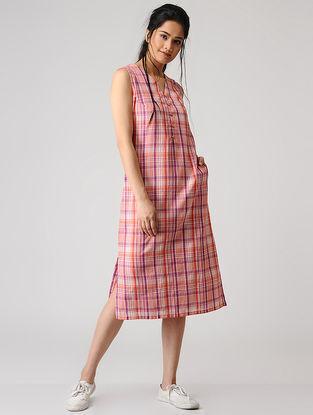 Pink Checkered Cotton Dress