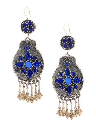 Tribal Blue Glass Earrings