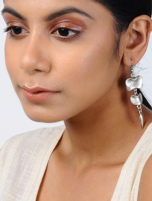 Classic Silver Tone Tribal Earrings
