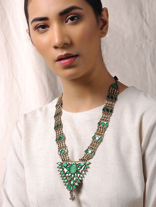 Green Glass Tribal Necklace