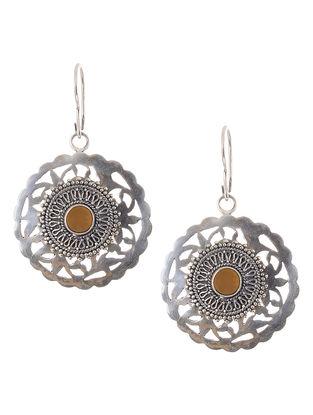Orange Agate Silver Earrings