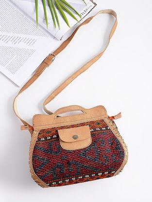 Beige-Multicolored Kilim Vintage Sling Bag