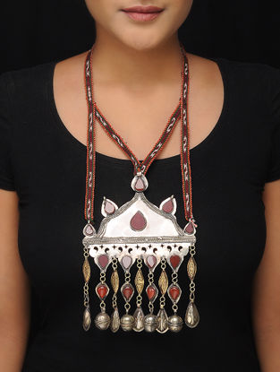 Red Dual Tone Brass Tribal Necklace