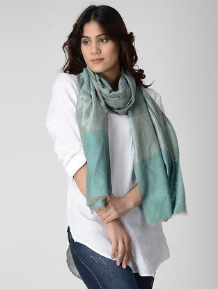 Blue Pashmina Stole with Zari