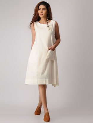 White Khadi Dress