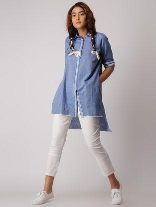 Blue Striped Khadi Shirt