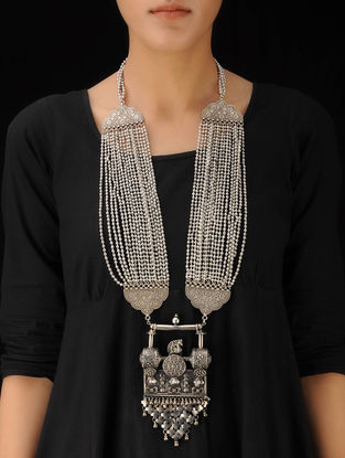 Ethno Bold Silver Necklace