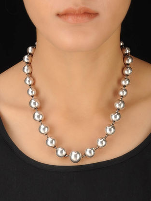 Classic Drop Silver Necklace