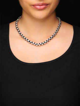 Classic Silver Heera Kanti Necklace