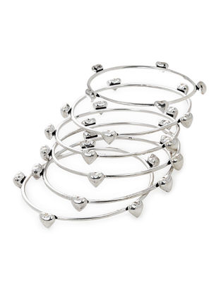 Classic Silver Bangles Set of 6 (Bangle Size -2/6)