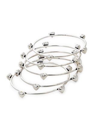 Classic Silver Bangles Set of 5 (Bangle Size -2/6)