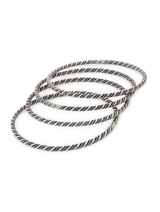 Classic Silver Bangles Set of 4 (Bangle Size -2/8)